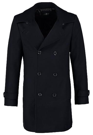 f1a0fb0f16f8 Pier One Men s Wool Coat in Blue - Size XL  Amazon.co.uk  Clothing