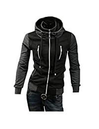 Partiss Mens False Two Piece Hoodie