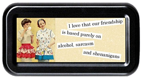 Friendship Based on Alcohol, Shenanigans, Sarcasm Funny Retro Tampon ()