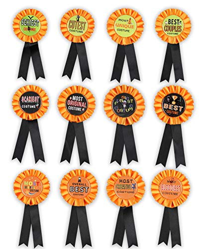 Restaurant Halloween Costumes (Halloween Costume Award Ribbons Decorations Pins - Party Contest Trick or Treat Prize Buttons Supplies)