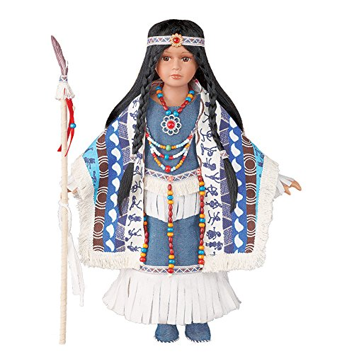 Women's Izel Native American Collectible Porcelain (Native American Porcelain)
