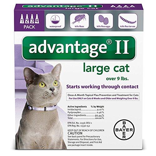 Advantage II Flea Treatment - Large Cat - 4 ct