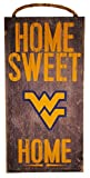 NCAA West Virginia Mountaineers 6'' x 12'' Home Sweet Home Wood Sign