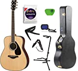 Yamaha FG800 Acoustic Guitar Solid Top with Knox Hard Shell Guitar Case ,Tuner,Stand,Picks,Strings,Strap and Capo