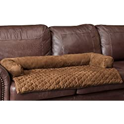 Solvit Bolstered Pet Bed Protector, Large, Cocoa