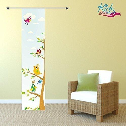 Toller Kinderzimmervorhang gardinen-for-life Fl/ächenvorhang Kids Baum Gr.60x245 cm Schiebevorhang mit Druck-Motiv