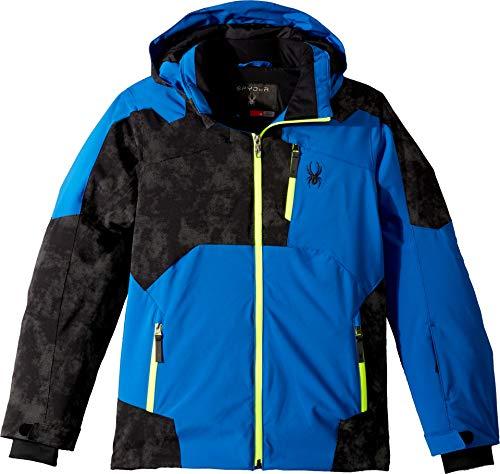 Speed Mesh Jacket - Spyder Kids Boy's Speed Jacket (Big Kids) Turkish Sea/Cloudy Reflective Distress Black/Bryte Yellow 8