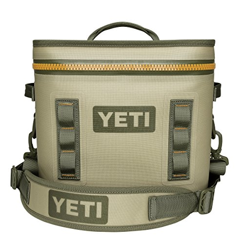 YETI Hopper Flip 12 Portable Cooler, Field Tan/Blaze Orange