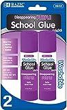 Bazic 21g/0.7 oz. Large Washable Purple Glue Stick 144 pcs sku# 428380MA
