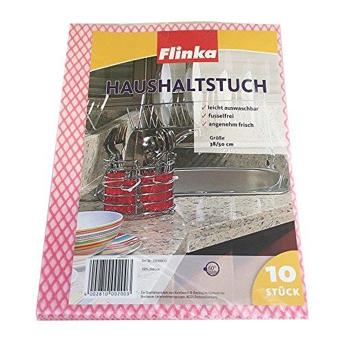 Flinka Haushaltstuch Reinigungstücher Küchentücher Rot (10 Stck. Packung)