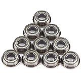 10pcs F686ZZ Mini Steel Ball Bearings Double Shielded Flange Deep Groove Ball Bearings 6 * 13 * 5mm