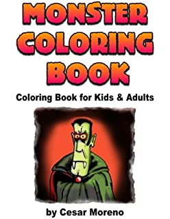 monster coloring book coloring book for kids and adults volume 1 - Monster Coloring Book