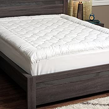 thick mattress pad. CozyClouds Extra Plush Luxurious Billowy Clouds Hypoallergenic Gel Fiber Poly Overfilled Quilted Pillow-Top Thick Mattress Pad