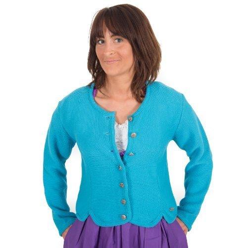 Trachten Jacke , türkis, Trachtenjacke, Dirndljacke, Dirndl-Jacke,Trachten Janker für Damen Größe 46