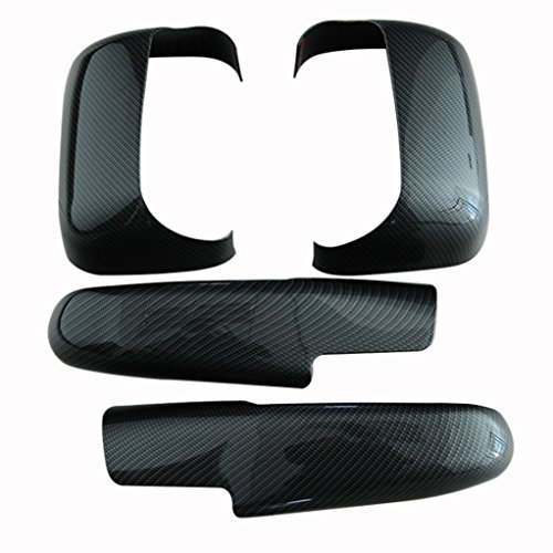 EAG 07-09 Dodge Ram 2500/3500 Mirror Cover Carbon Fiber Look ABS Towing ()