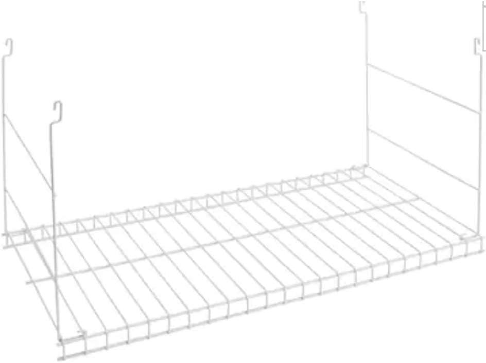 "Rubbermaid Universal 24"" Durable Steel Wire Hanging Added Storage Shelf, White"