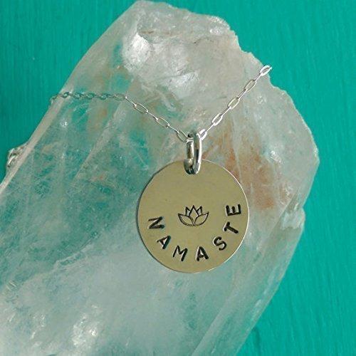 Amazon Pure Love Namaste Yoga Jewelry Namaste Necklace With