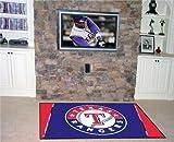 FANMATS MLB Texas Rangers Nylon Face 4X6 Plush Rug