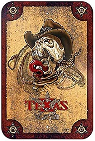 Lotusworld Señal de Advertencia de Texas The Last Stand Western Snake Skull Biker Home Business Office Metal Sign de Aluminio de 8 x 12 Pulgadas: Amazon.es: Hogar