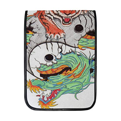 Ipad Pro 12-12.9 inch Sleeve Case Bag for Surface Pro Angry Tiger Sitting On Chinese Dragon Mac Protective Carrying Cover Handbag for 11