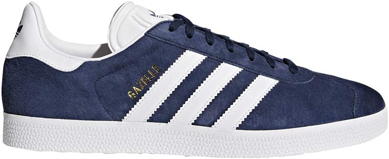 Adidas Originals Men's Gazelle Lace-up Sneaker,Collegiate Navy/White/Gold Met.,4 M US