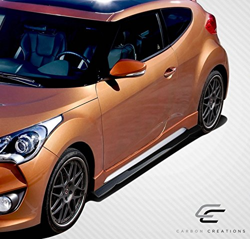 - Carbon Creations ED-TGR-262 GT Racing Side Splitters - 2 Piece Body Kit - Compatible For Hyundai Veloster 2012-2016