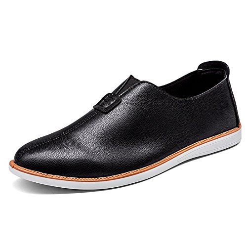 Driving On Flat Moccasins Comfortable Slip Black Shoes Leather Casual Loafers Soft Pumps Men qwU8EE