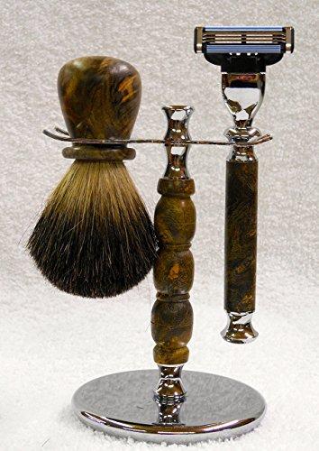 Men's shaving kit. by Keori's Custom Woodworking