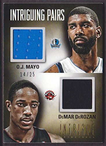 2012-13 Panini Intrigue Basketball Intriguing Pairs Jersey #60 O.J. Mayo/DeMar DeRozan 14/25