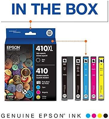 Epson 410XL - Cartuchos de tinta, pack de 5, negro y negro ...