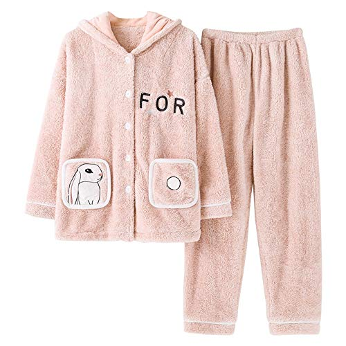 47 Can 57kg Worn Winter Home Warm 58 Pajamas Autumn 65kg Female Thick And Outside 164cm Xl162 168cm L158 Coral Flannel Pajamasx Velvet Service Be gB76fw