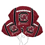 University of South Carolina Football Shaped 18'' Mylar Balloon 3pk