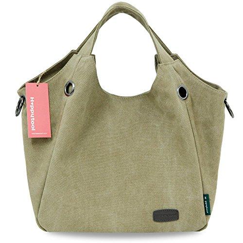 Tote hobo bag Shoulder Shopping Travel Bag Women Khaki Handbag Handle ergo Happytool for Bag Top fwpnXC5q
