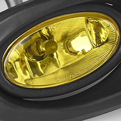 AUTOSAVER88 Fog Lights Compatible with 2002 2003 2004 Acura RSX fog lights (Yellow Lens with Bulbs & Wiring Harness): Automotive