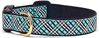 product image for Up Country Aqua Plaid Dog Collar - Extra Small (Narrow)