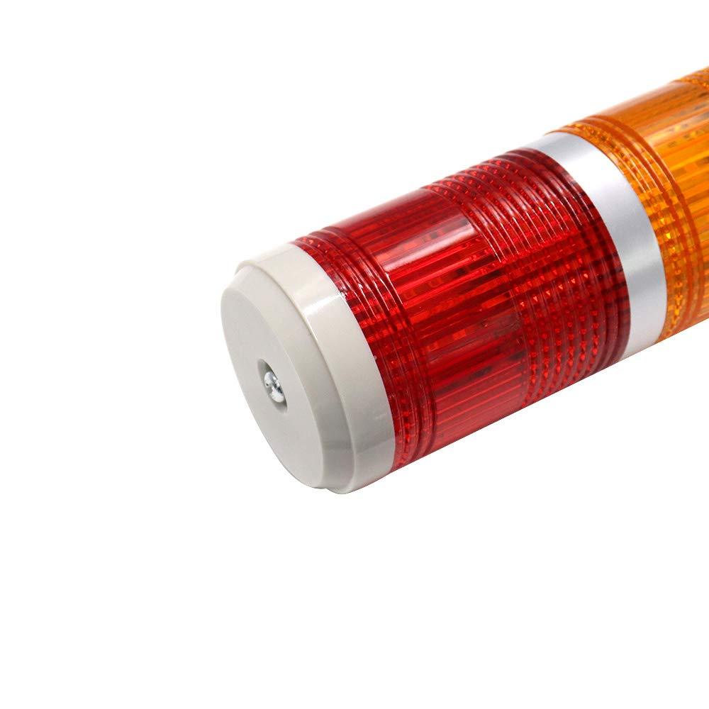 BokWin 90dB DC24V Warning Light Bulb Flashing Bright Signal Alarm Tower Lamp Buzzer