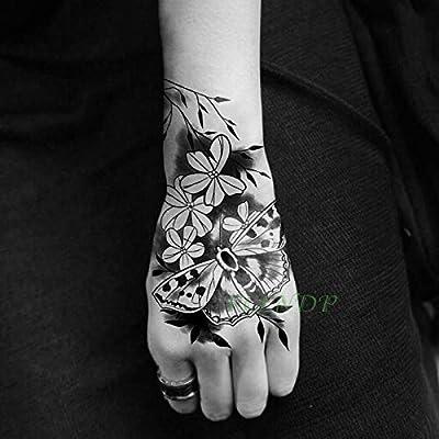 tzxdbh 3 Piezas Impermeables Tatuajes temporales de Tatuajes Flor ...