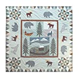Patch Magic 72-Inch by 72-Inch Mountain Whispers Shower Curtain