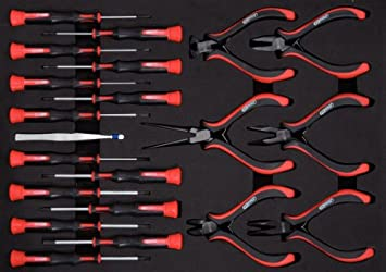 KS Tools 500.7190 Pack Herramientas para mecánica de precisión (tamaño: 40 x 282 x 390 mm), 21pcs, Set de 21 Piezas: Amazon.es: Bricolaje y herramientas