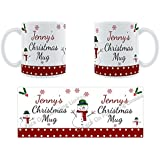 Jennys Christmas Mug - Personalised Ceramic Name Mug by Face-On Personalised Mugs