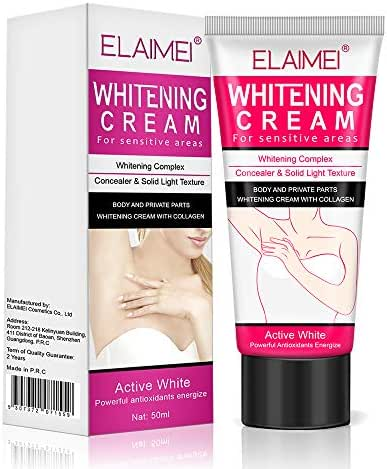 Natural Underarm Whitening Cream,Effective for Lightening & Brightening Armpit, Neck, Bikini, Thigh and Sensitive & Private Area Skin,Whitens Nourishes Repairs & Restores Skin,1 Pack