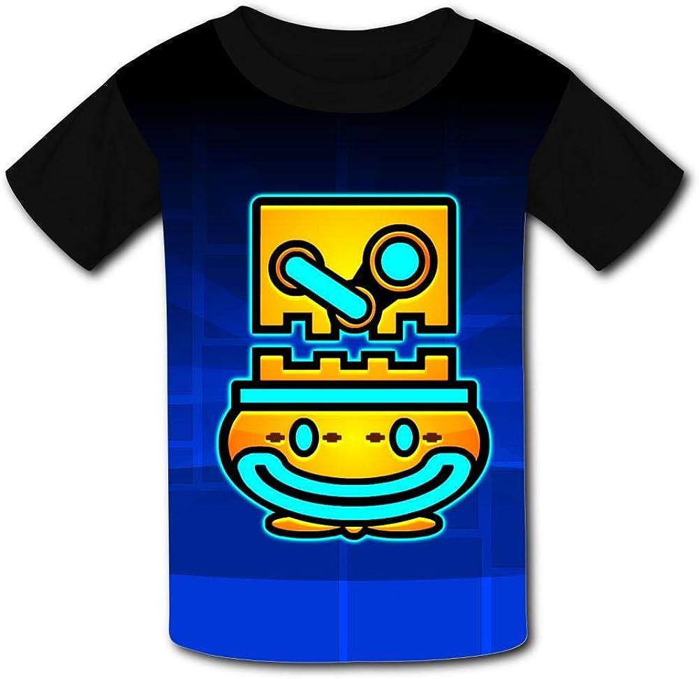 Geom-et-ry Dash Artwork Unisex Kids T-Shirts 3D Printed Fashion Youth T Shirt Tees for Boys Girls