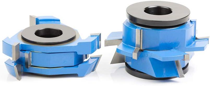 Amana Tool SC566 2-Piece Carbide Tipped 3-Wing Instile /& Rail Adjustable Cabinet Door 22