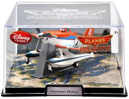 (Disney - Planes Fire and Rescue - PONTOON DUSTY - 1:43 scale and in display case)
