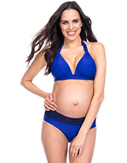 01a7615fd Seraphine Coral Cutout Maternity Swimsuit at Amazon Women's Clothing ...