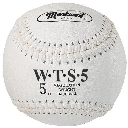 Markwort Weighted Synthetic Covered Baseball, 9-Inch, 5-Ounce, White