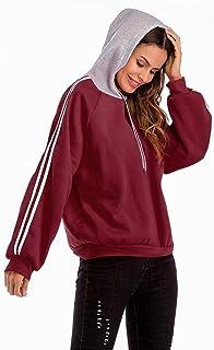 Good dress Suéter con Capucha de Manga Larga para Mujer de Gran Tamaño Que Combina el Otoño Y el Invierno de Las Mujeres Fluye sin Mangas, Vino Rojo, m