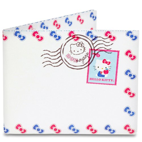 Dynomighty Men's Hello Kitty Airmail Mighty Wallet, White/Pink/Blue, One Size