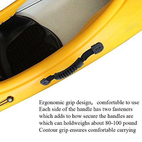 KINDPMA Kayak Carry Handle 2 Pack Heavy Duty Rubber Kayak Moulded Webbing  Handles Replacement Accessories for Ocean Kayak Lifetime Kayaks Pelican