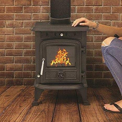 Deals Online - Estufa de madera de 4,5 KW y hierro fundido de alta eficiencia, chimenea de leña multicombustible: Amazon.es: Bricolaje y herramientas